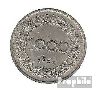 Austria km-number. : 2834 1924 extremely fine Copper-Nickel extremely fine 1924