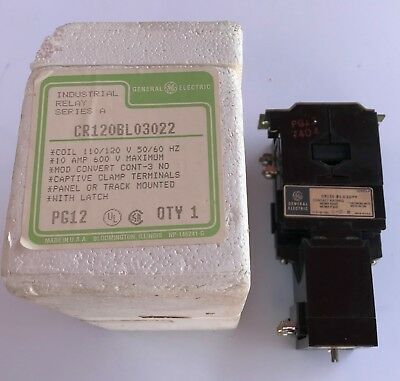 G.E. CR120BL03022  600V Industrial Latched Relay -New
