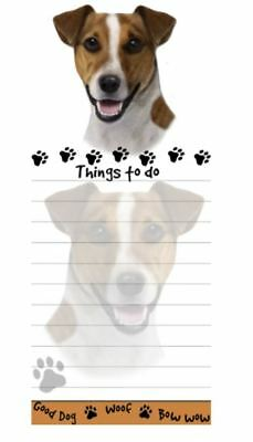JACK RUSSELL  DOG DIECUT LIST PAD NOTES NOTEPAD Magnetic Magnet Refrigerator