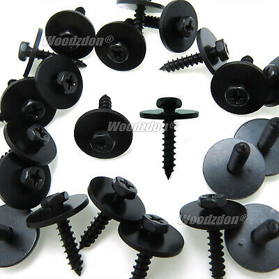 100Pcs Metal Car Screw Body Fender Bumper Retainer Clips 7mm Hex (4.2-1.41x22mm)