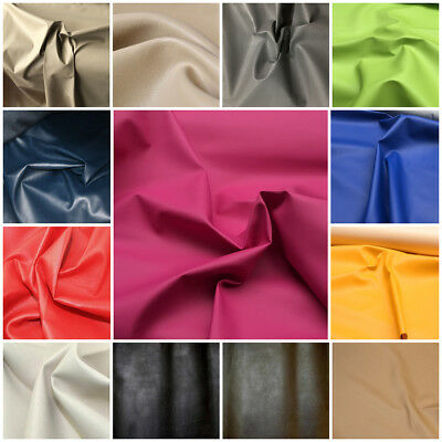 Leatherette Faux Leather Look Vinyl Upholstery Fabric Material 140cm wide