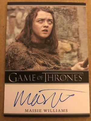 Game Of Thrones - Season 7: Bordered Autograph Card: Maisie Williams As Arya