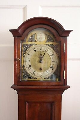 Antique Grandmother Clock In Mahogany Case 1930 Chiming Movement Gwo