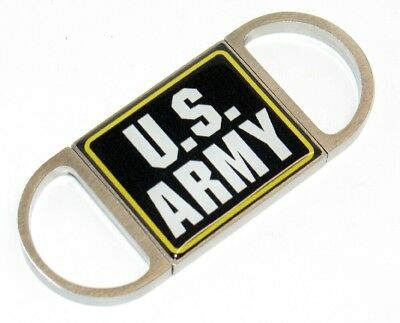 US Army Full Color Logo Stainless Stell Guillotine Steel Cigar Cutter