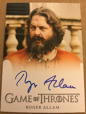 Game Of Thrones - Season 7: Full Bleed Autograph Card: Roger Allam