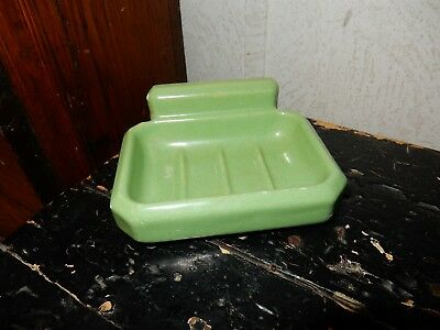 Vintage green ceramic soap dish for sink tub, wall mount