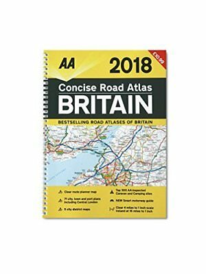 AA Concise Road Atlas Britain 2018 – Up To Date Road Atlas for Britain in 2018 -