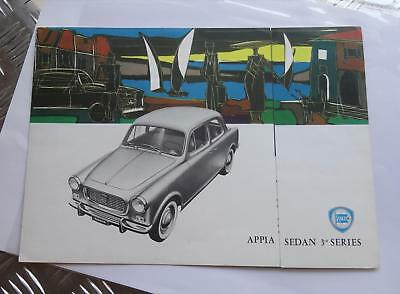 Vtg ORIGINAL 1950s LANCIA SALES BROCHURE APPIA SEDAN 3RD SERIES IN ENGLISH auto