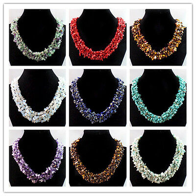 Wholesale Mixed Gemstone Chip Necklace 17.5 inch Choose Like stone