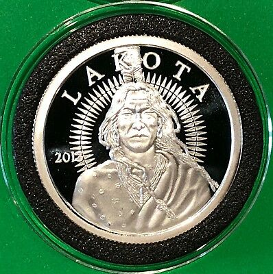 2013 Lakota Crazy Horse Proof Coin 1 Troy Oz .999 Fine Silver Collectible Round