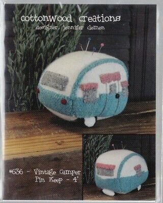PATTERN - Vintage Camper Pincushion - cute wool pincushion PATTERN - Cottonwood