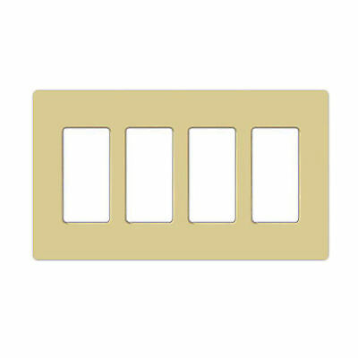 Lightolier Fb4Si Multi-Gang, 4-Gang, Faceplate, Wall Plate, Ivory
