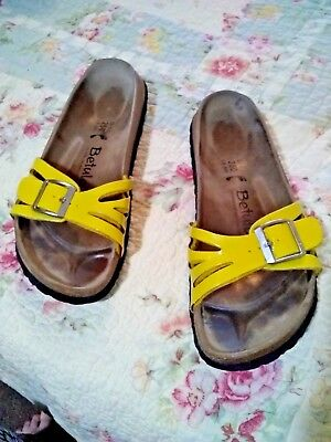baa78842a38a BIRKENSTOCK BETULA Sandals Size Ladies 8 Men 6 Strap Slides Shoes Yellow