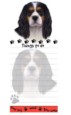 CAVALIER DOG DIECUT LIST PAD NOTES NOTEPAD Magnetic Magnet Refrigerator