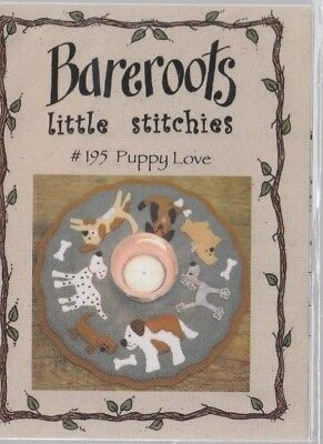PATTERN - Puppy Love Candle Mat KIT - cute applique candle mat PATTERN & Fabric