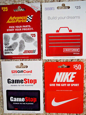 Gift Cards, Collectible, four new, unused cards with backing, no value on cards