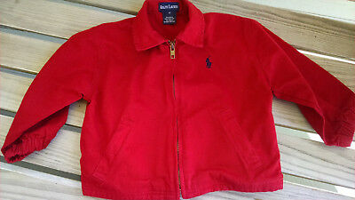 Ralph Lauren boy red light jacket zip up 2T