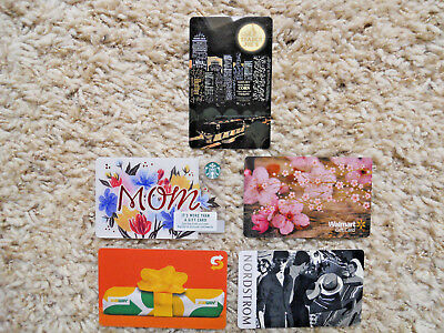 Collectible Gift Cards five cards, new, unused, no value on cards