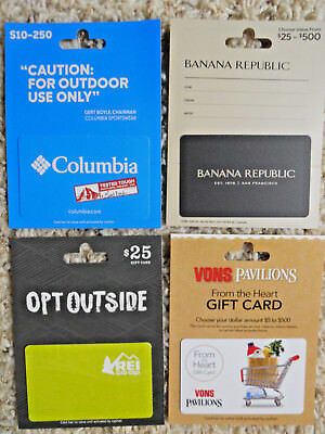 Collectible Gift Cards with backing, four unused new cards, no value on cards
