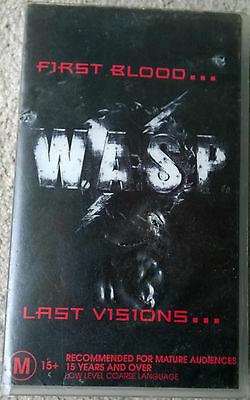 WASP First Blood Last Visions 1993 VHS 1980's Heavy Metal Glam Rock