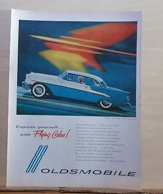 1955 magazine ad for Oldsmobile - Super 88 Holiday Coupe, Flying Colors