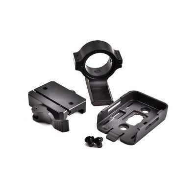 Mount for RunCam 2 with Picatinny Rail mount and Rail Adapter - Black