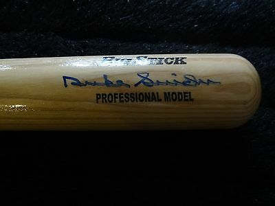 Duke Snider signed Rawlings Adirondack Bat w/PSA/DNA sticker Brooklyn Dodgers
