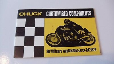 Chuck Motor Cycle Accessories Brochure 1960,s Plus Price List