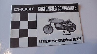 Chuck Motor Cycle Accessories Brochure Supplement 1967