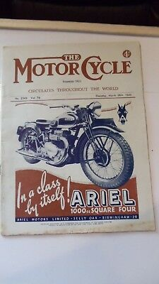 The Motor Cycle Magazine ,march 28Th 1946,no 2242 Vol 76