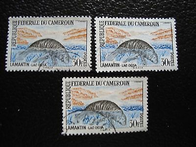 CAMEROON - stamp yvert and tellier n° 352 x3 obl (A01) stamp (E)