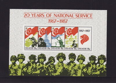 Singapore 1987 National Service Miniature Sheet - Mint Unhinged (L260)