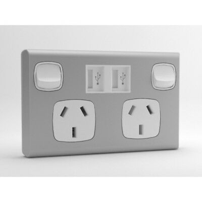 5 x USB power point/socket sockITz white and silver Super ebay special!