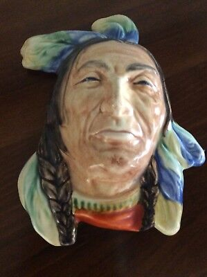 Beswick Ware Native Indian Wall Plaque In Excellent Condition