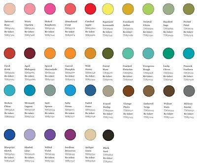 Tim Holtz Distress Oxide Ink Pad Reinker Refill - 36 Colours - You Choose