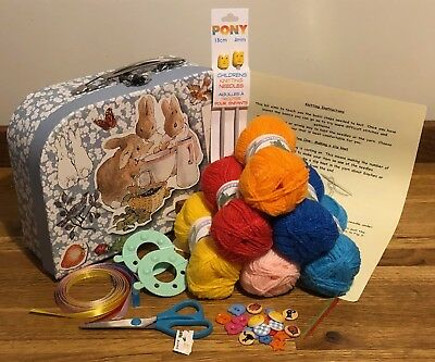 Children's Complete Beginner Knitting Kit Ideal Gift Good Quality 7 Box Styles
