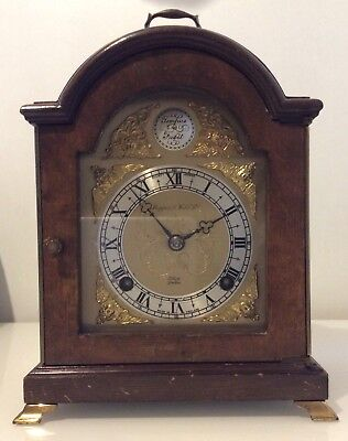 A Mappin And Webb Elliott Of London Wodden Mantel Clock ++Tempus Fugit ++