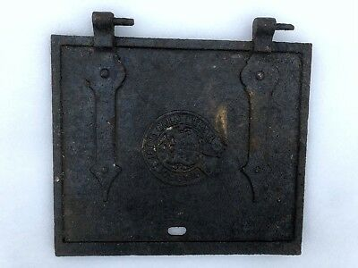 Small Used Vintage Kitchen Cast Iron Range Oven Door Abbott 1895 Gold Medal