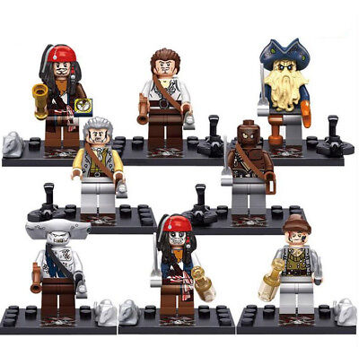 Pirates of the Caribbean Mini figures Building Brick Toy Blocks Contruction Toy