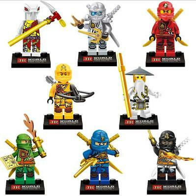 8x Ninjago Building Blocks Ninja Mini Figures KID Toy Contruction Toy Set Gift