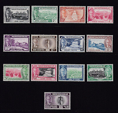 MONTSERRAT. 1951. SG 123-135, 1c to $4.80. FRESH MOUNTED/UNMOUNTED MINT.
