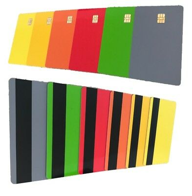 COLOUR ISO PVC IC With SLE4442 Chip Blank Smart Card & Magstipe HICO