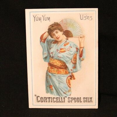 Corticelli Victorian Trade Card - Yum Yum Uses