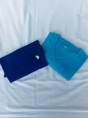 Mens Lot of 2 Large T-shirts Blue Polo & Light Blue Old Navy Men's Large