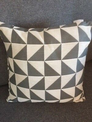 DFS FRENCH CONNECTION SINGLE SCATTER CUSHION - ZINC (Grey & White ...