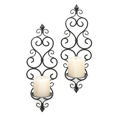 Chandeliers, Sconces & Lighting Fixtures 21 H Royal Fleur de Lis Lit by Candle Outdoor Indoor Hanging Wall Sconce Antiques