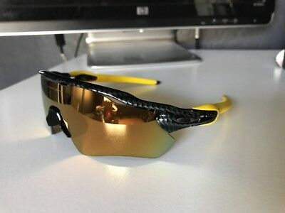 OAKLEY RADAR EV Carbon Fiber w/ 24k Iridium Path Custom New