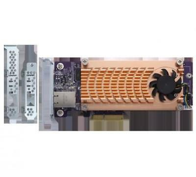 Qnap Dual NVMe M.2 22110/2280 PCIe SSD and single 10GBASE-T 10GbE network...