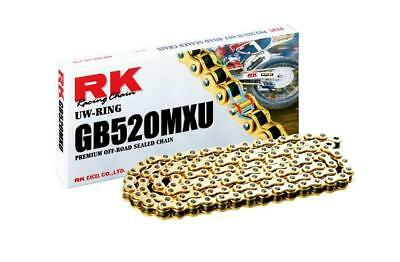 RK Racing Chain GB520MXU-116 Gold 116-Links UW-Ring with Connecting Link