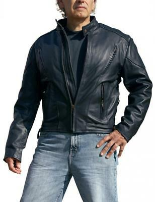 Interstate Leather Men's Touring Jacket (Black, XXX-Large)